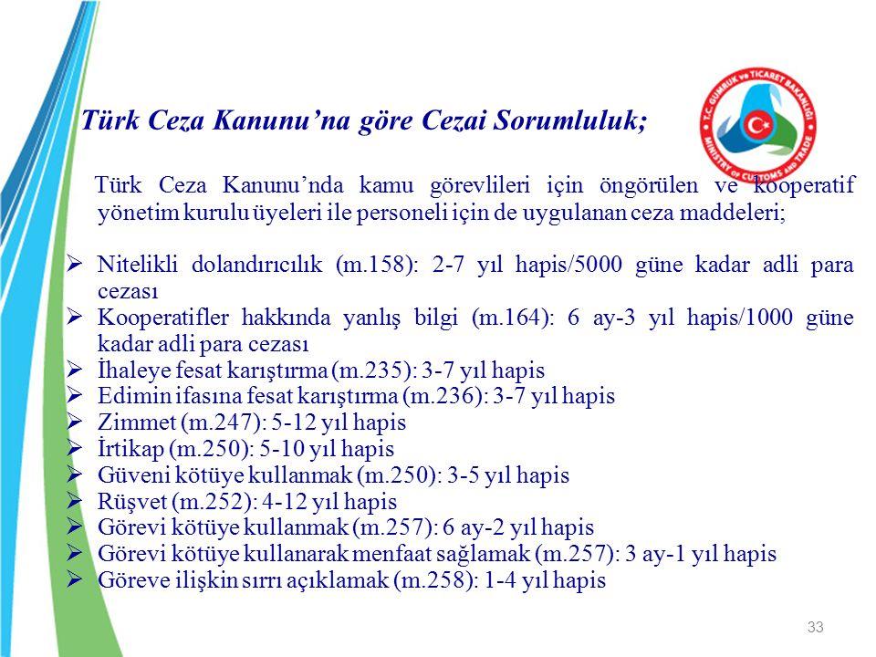 Türk Ceza Kanunu'na göre Cezai Sorumluluk;