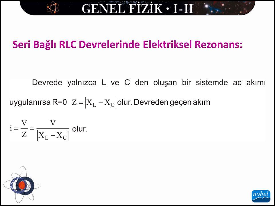 Seri Bağlı RLC Devrelerinde Elektriksel Rezonans: