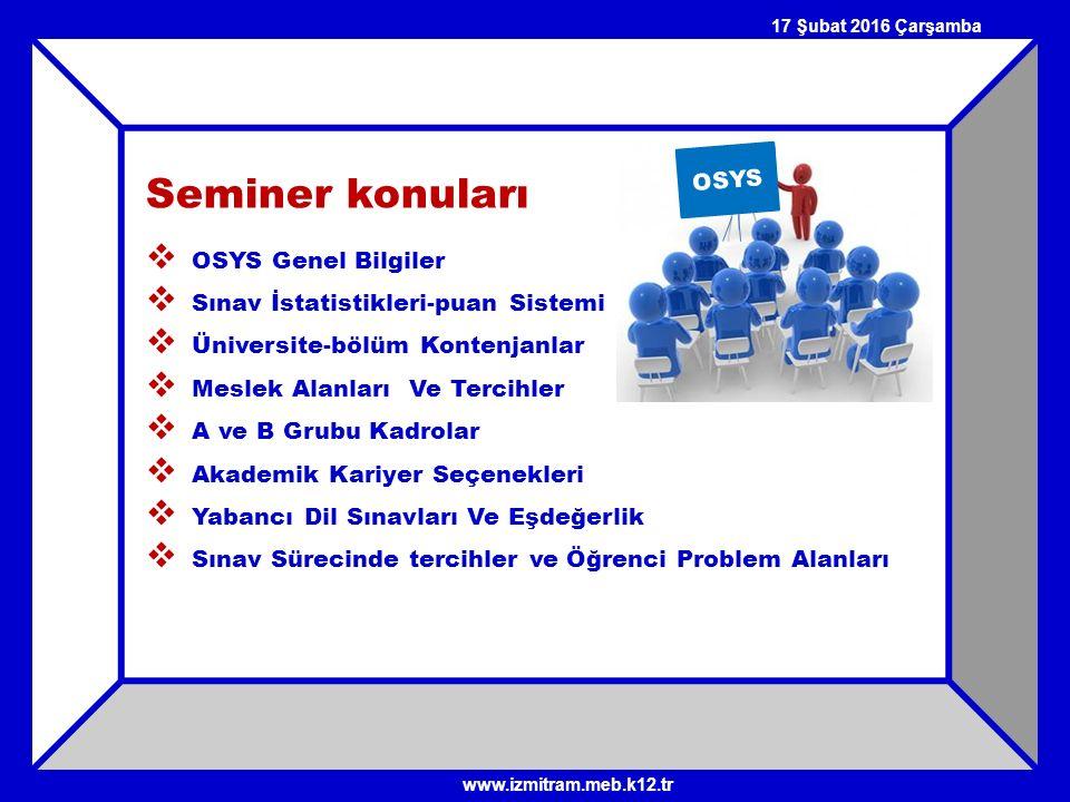 Seminer konuları OSYS OSYS Genel Bilgiler