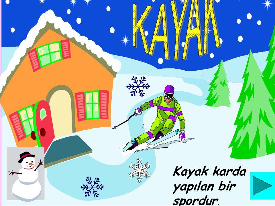KAYAK Kayak karda yapılan bir spordur.