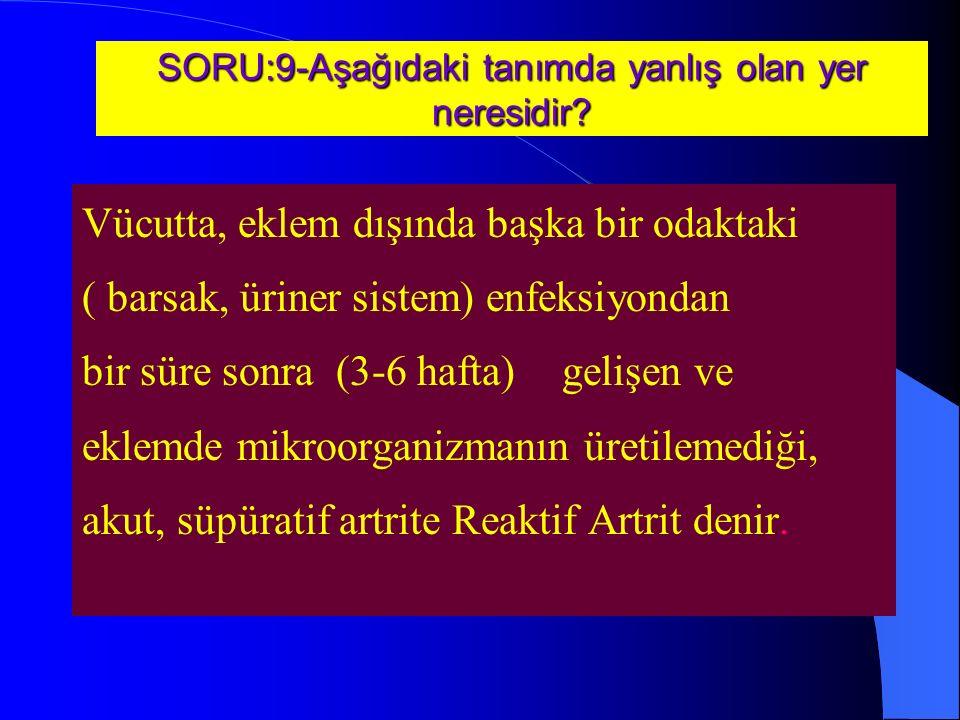 SORU:9-Aşağıdaki tanımda yanlış olan yer neresidir