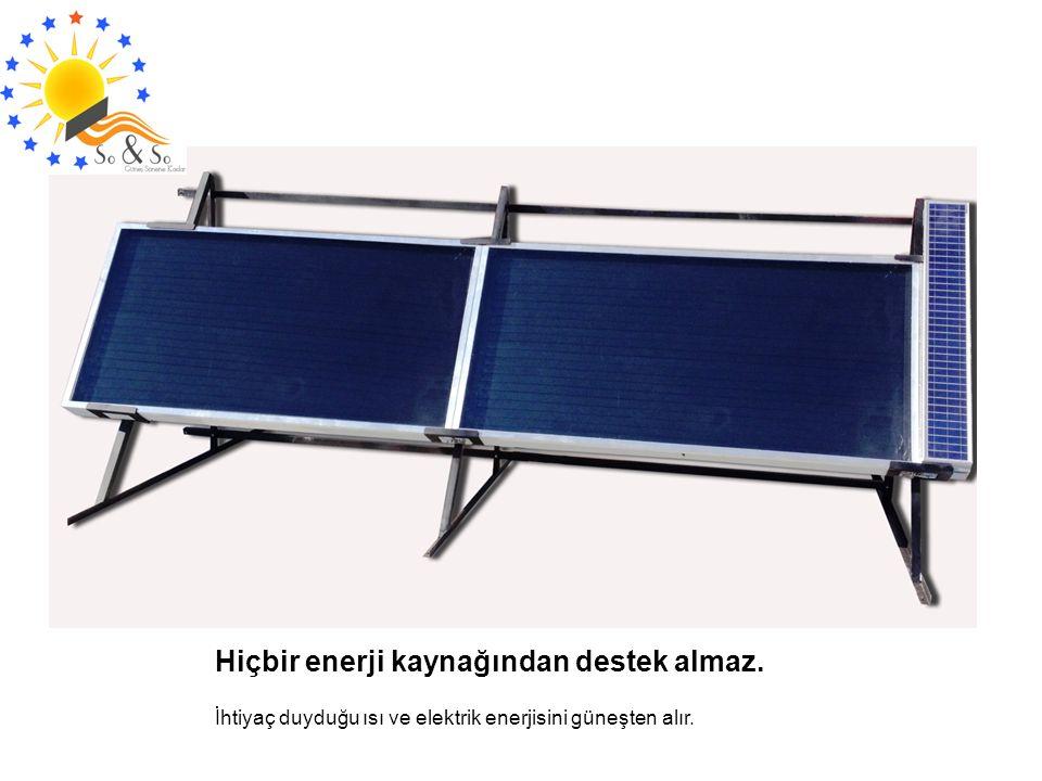 Hiçbir enerji kaynağından destek almaz.