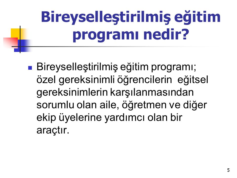 Bireyselleştirilmiş eğitim programı nedir