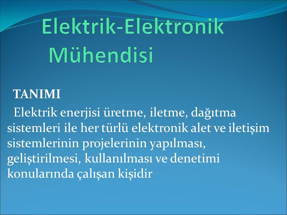 Elektrik-Elektronik Mühendisi