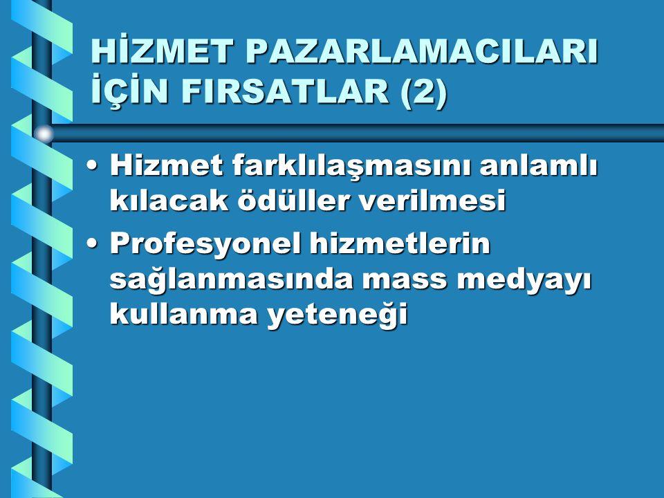 HİZMET PAZARLAMACILARI İÇİN FIRSATLAR (2)