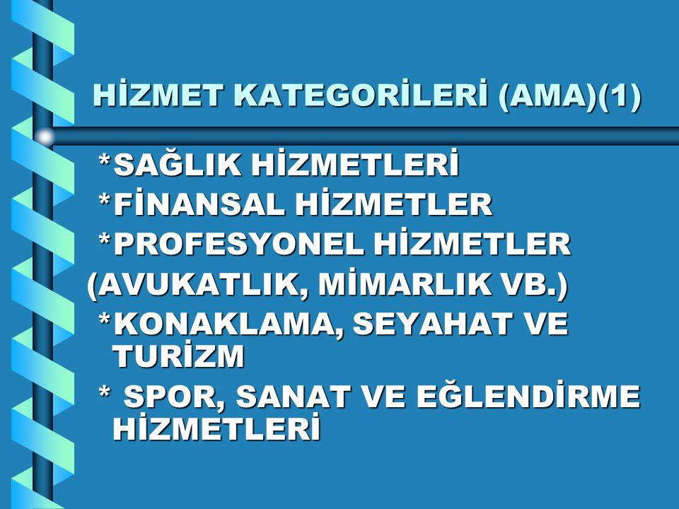 HİZMET KATEGORİLERİ (AMA)(1)