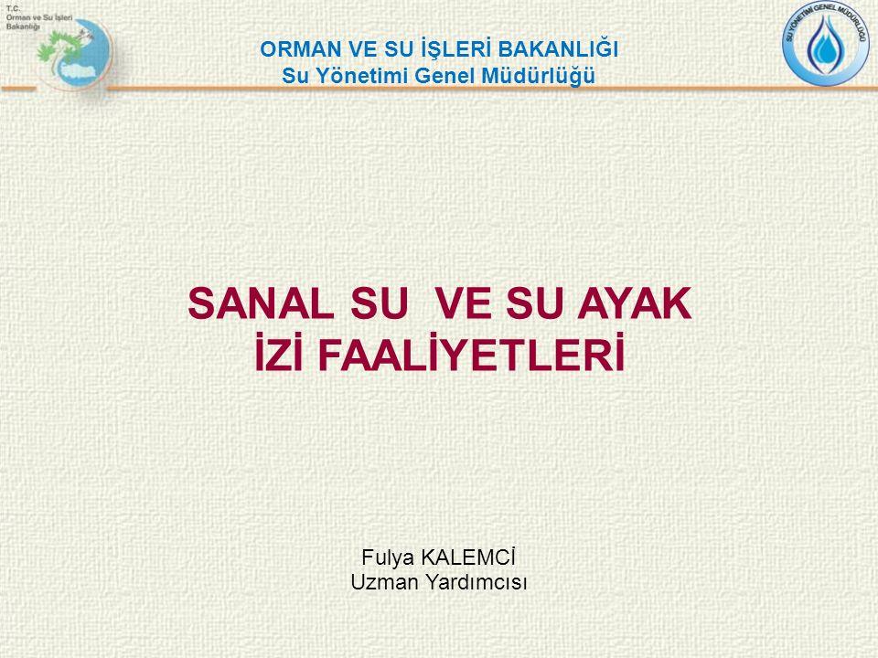 SANAL SU VE SU AYAK İZİ FAALİYETLERİ