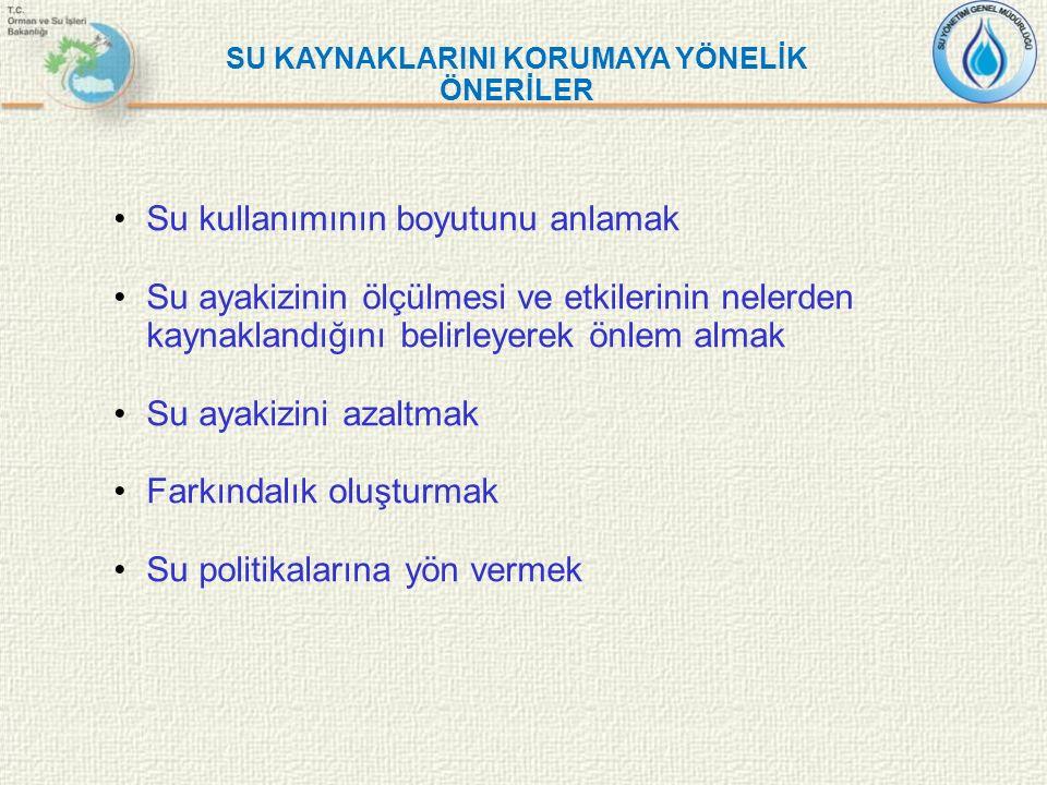 SU KAYNAKLARINI KORUMAYA YÖNELİK ÖNERİLER