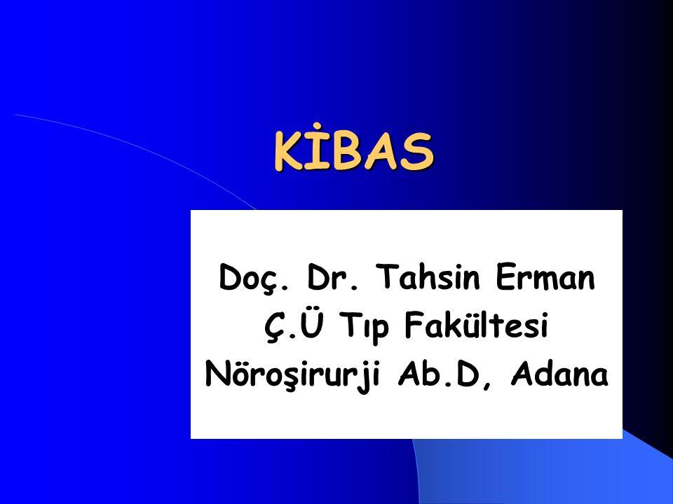 Doç. Dr. Tahsin Erman Ç.Ü Tıp Fakültesi Nöroşirurji Ab.D, Adana