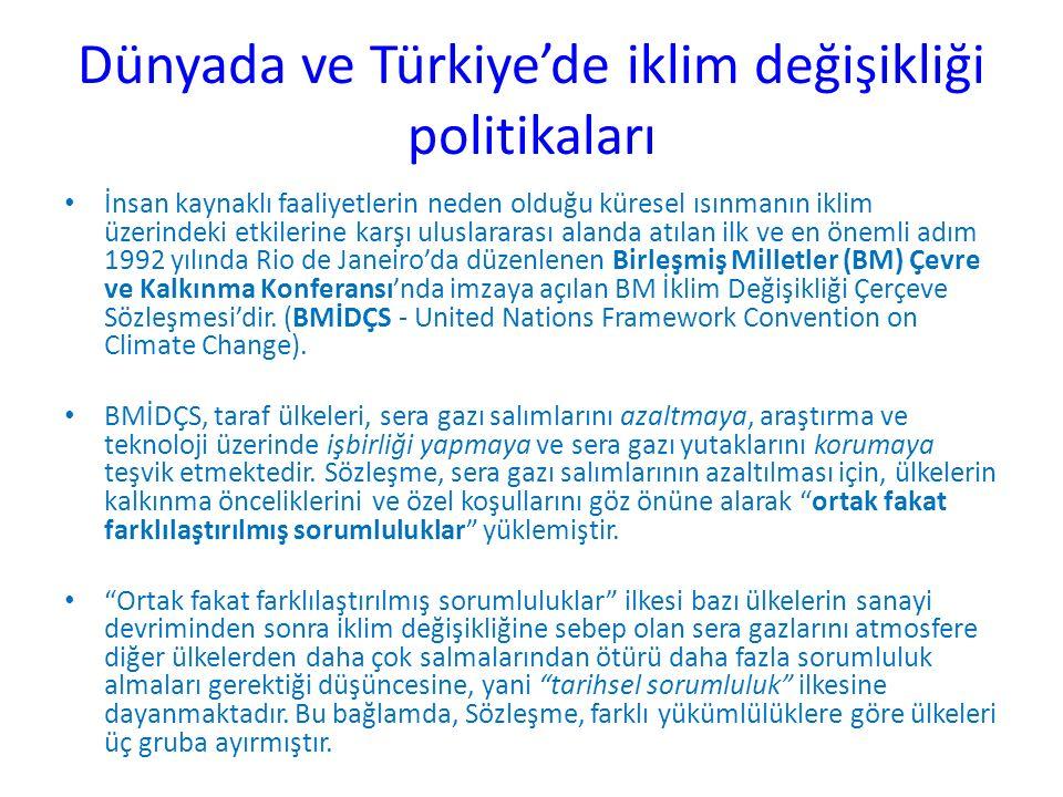 Dünyada ve Türkiye'de iklim değişikliği politikaları