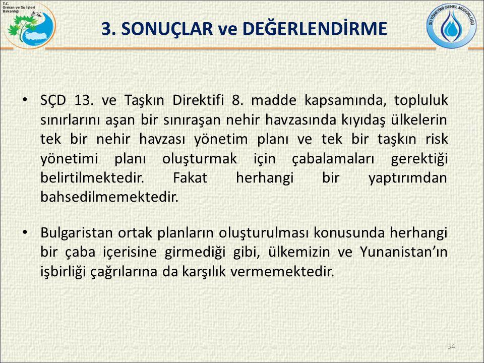 3. SONUÇLAR ve DEĞERLENDİRME