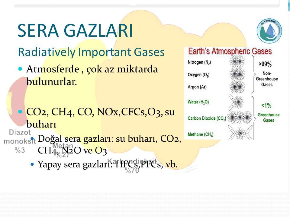 SERA GAZLARI Radiatively Important Gases