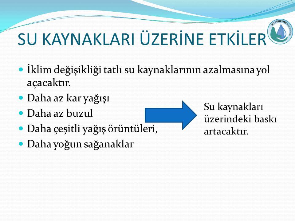 SU KAYNAKLARI ÜZERİNE ETKİLER