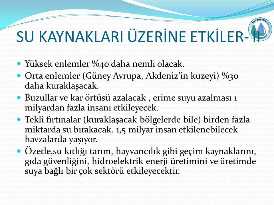 SU KAYNAKLARI ÜZERİNE ETKİLER- II