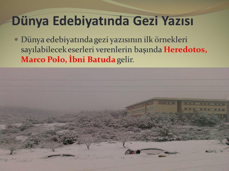 Dünya Edebiyatında Gezi Yazısı