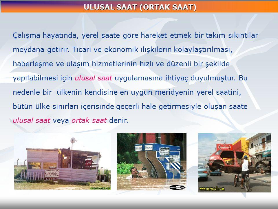 ULUSAL SAAT (ORTAK SAAT)