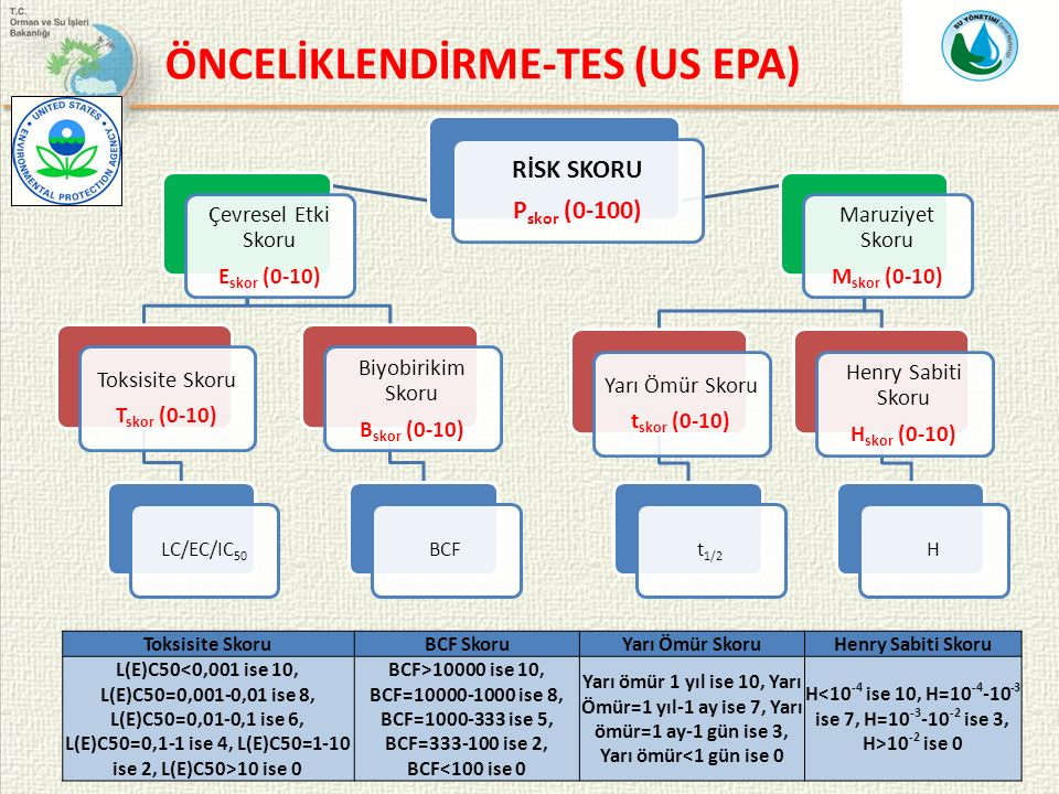 ÖNCELİKLENDİRME-TES (US EPA)
