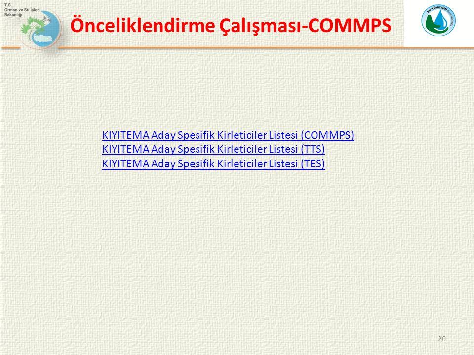 Önceliklendirme Çalışması-COMMPS