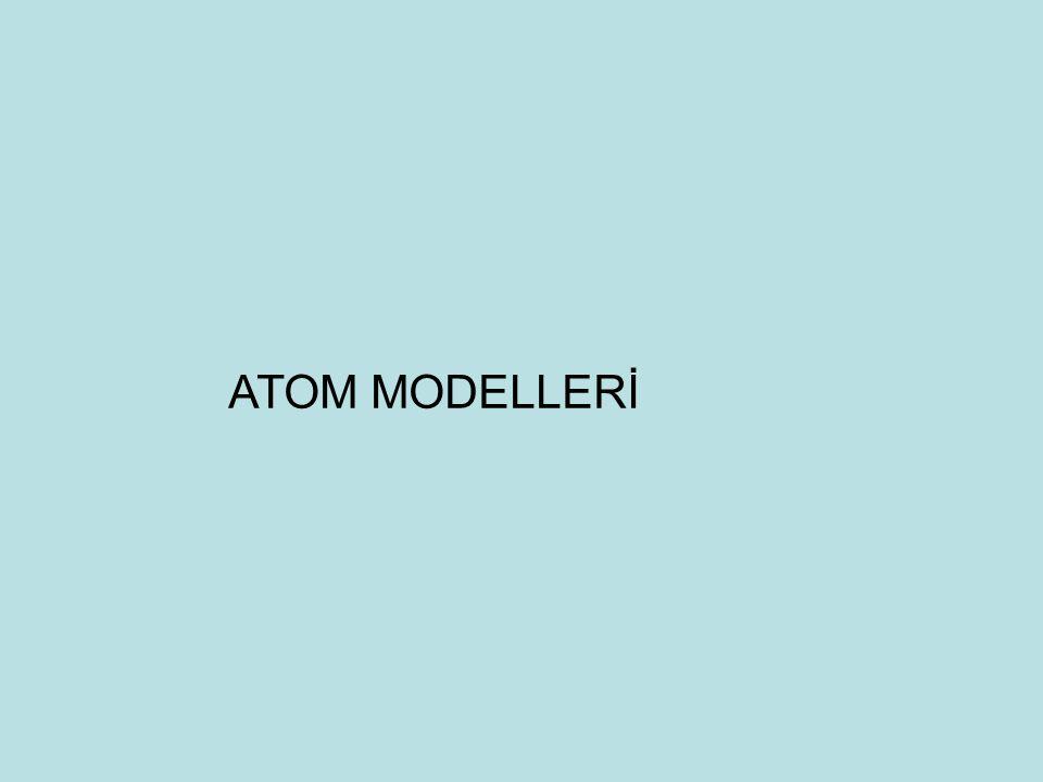 ATOM MODELLERİ 16