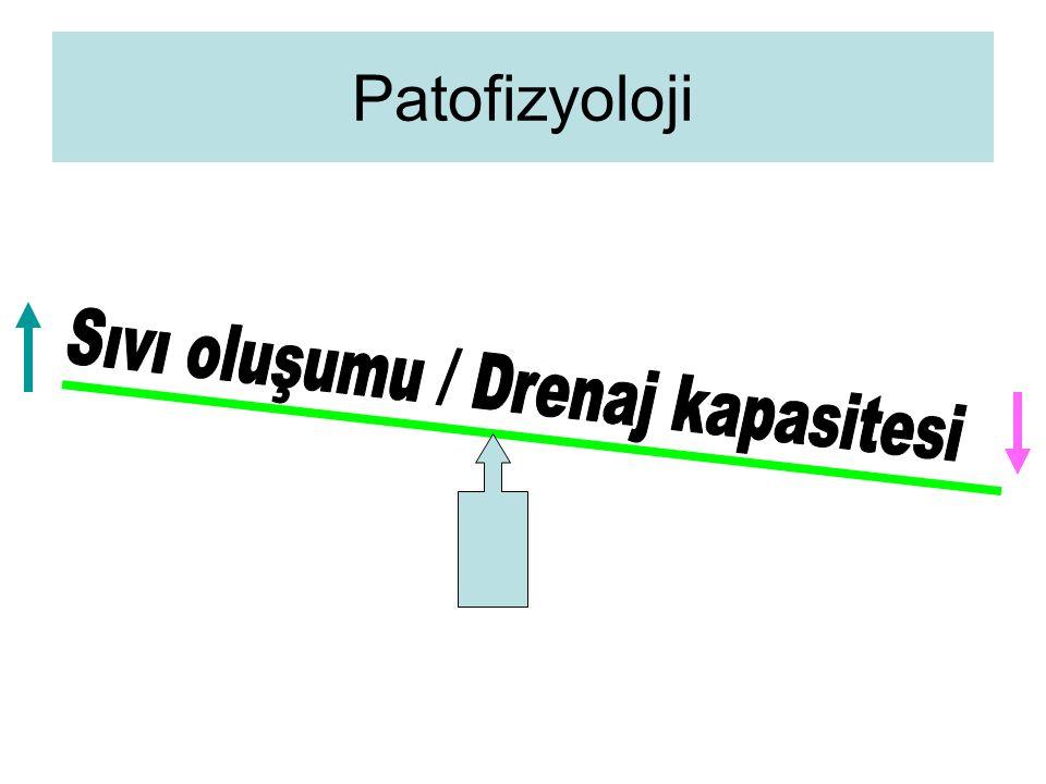 Sıvı oluşumu / Drenaj kapasitesi