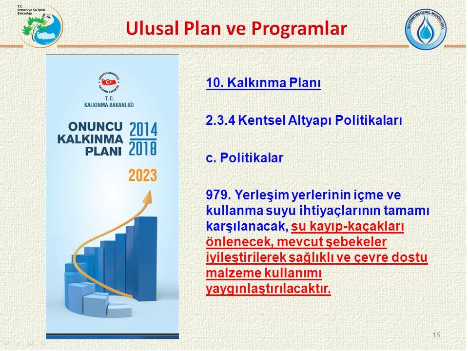 Ulusal Plan ve Programlar