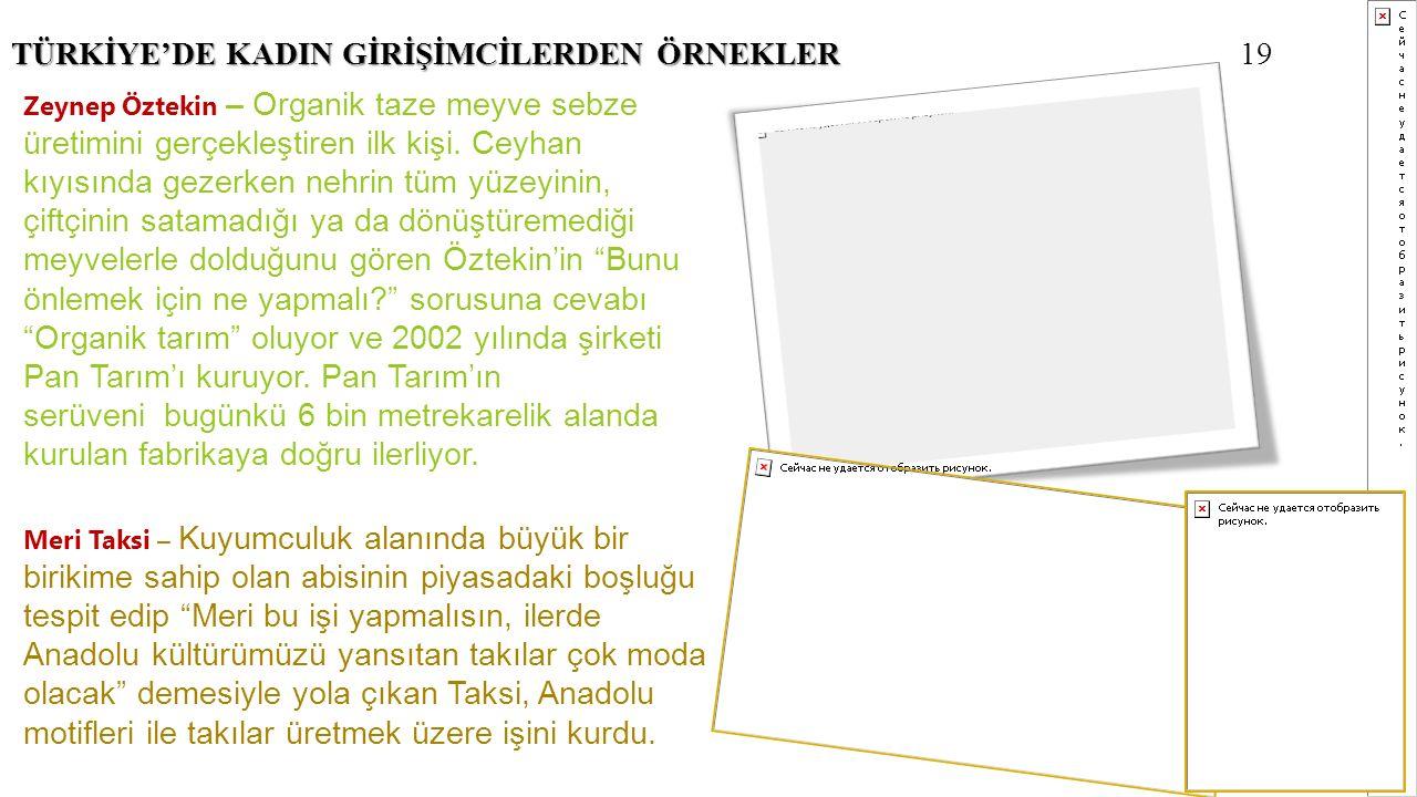 TÜRKİYE'DE KADIN GİRİŞİMCİLERDEN ÖRNEKLER 19
