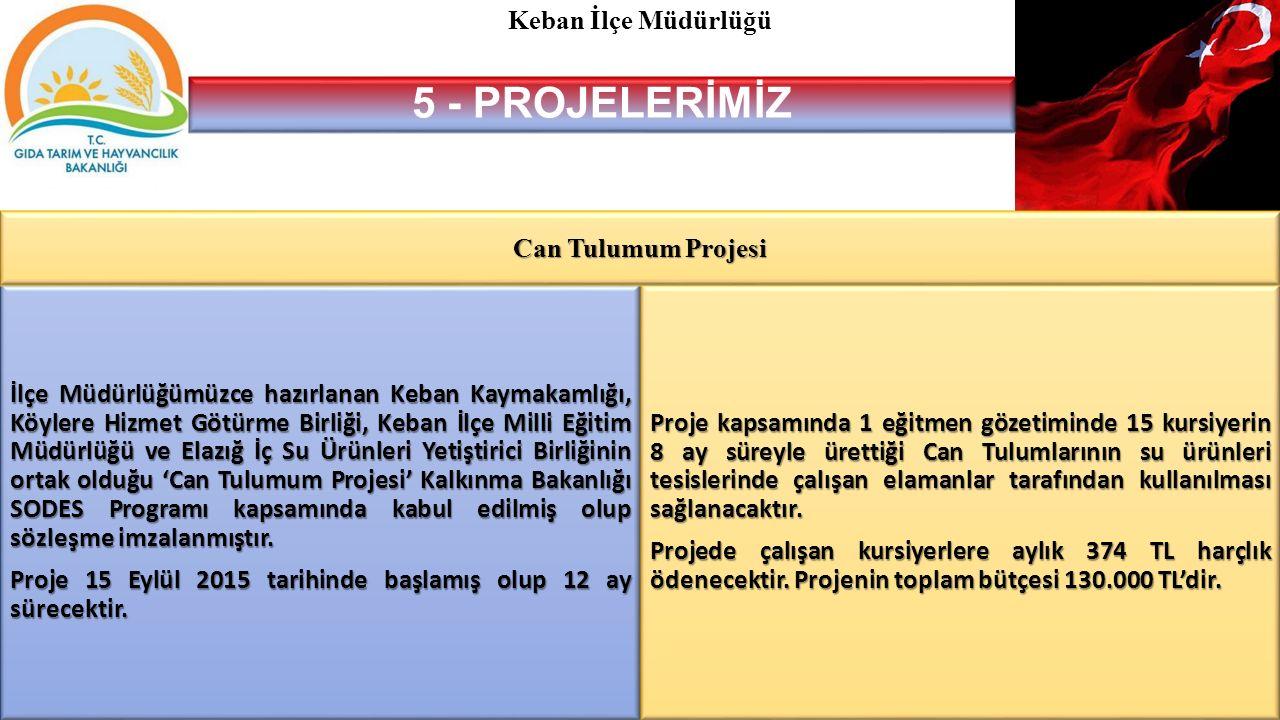 5 - PROJELERİMİZ Keban İlçe Müdürlüğü Can Tulumum Projesi