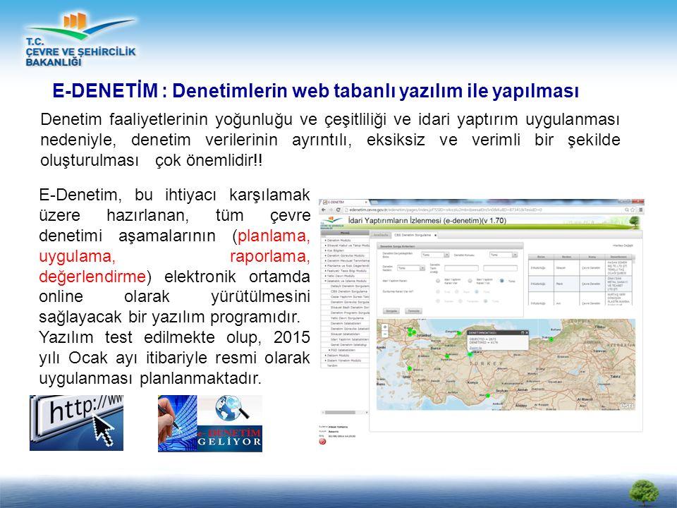 E-DENETİM : Denetimlerin web tabanlı yazılım ile yapılması