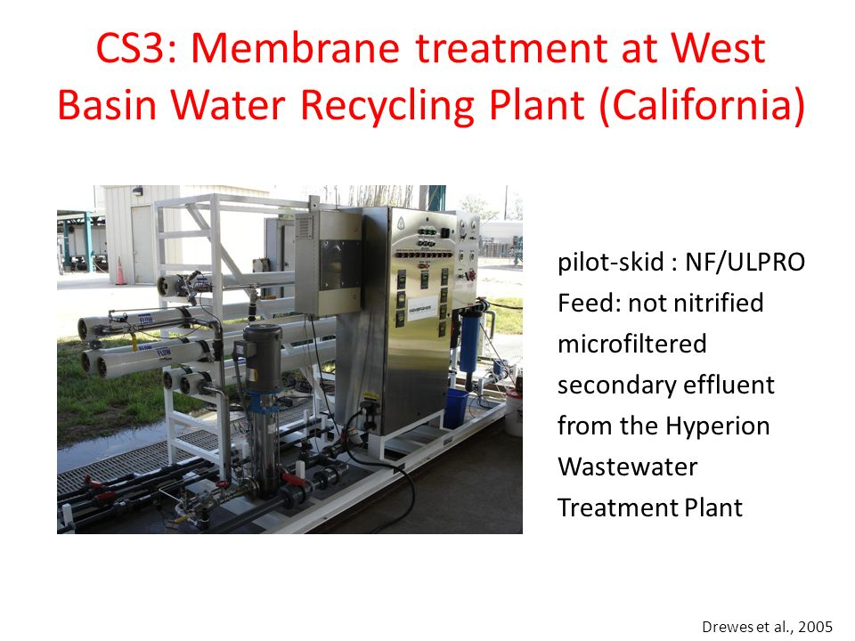 CS3: Membrane treatment at West Basin Water Recycling Plant (California)