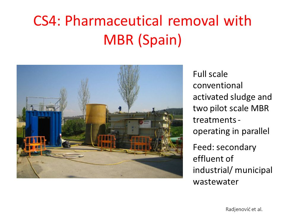 CS4: Pharmaceutical removal with MBR (Spain)