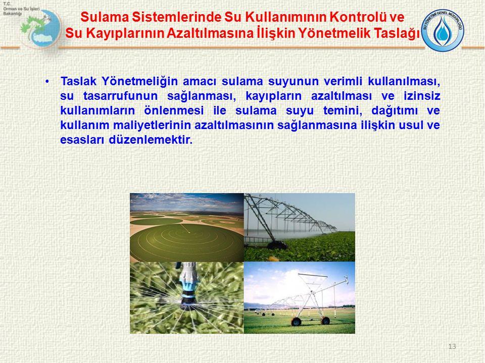 Sulama Sistemlerinde Su Kullanımının Kontrolü ve