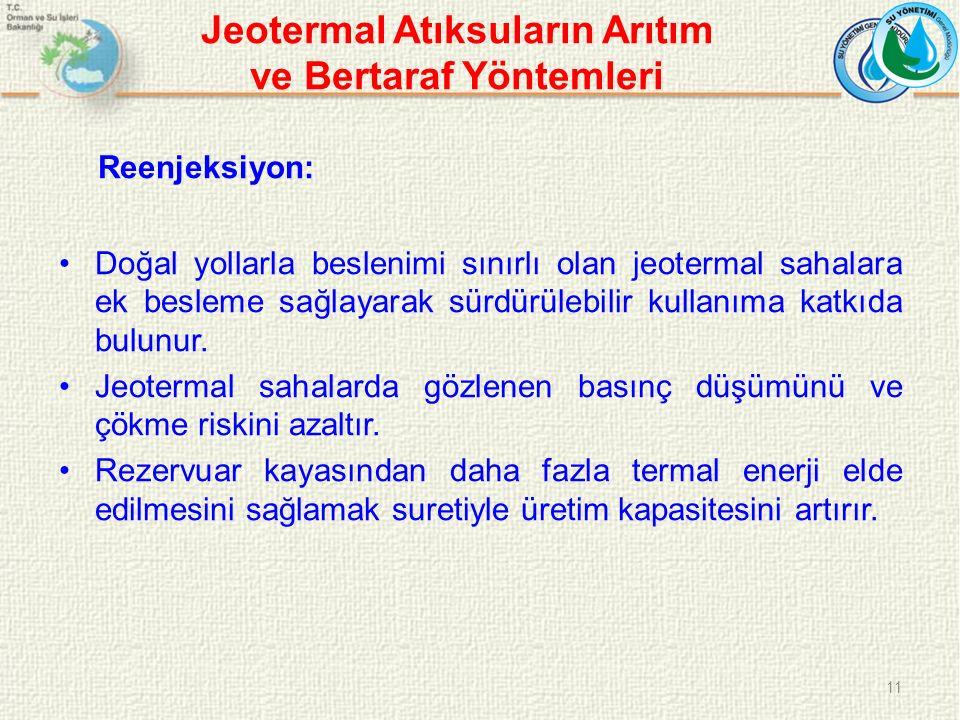 Jeotermal Atıksuların Arıtım ve Bertaraf Yöntemleri