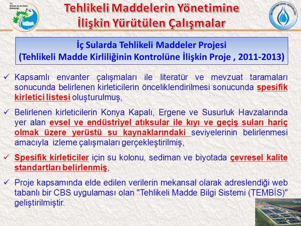 Tehlikeli Maddelerin Yönetimine İlişkin Yürütülen Çalışmalar