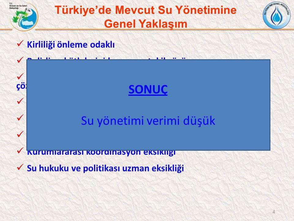 Türkiye'de Mevcut Su Yönetimine Genel Yaklaşım