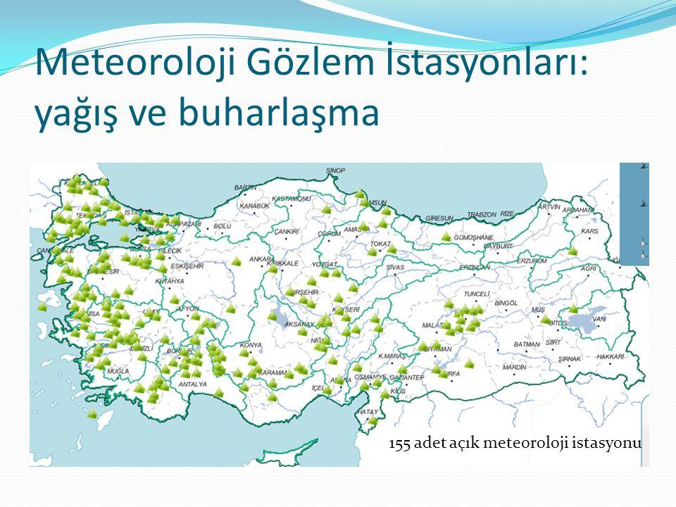 Meteoroloji Gözlem İstasyonları: yağış ve buharlaşma