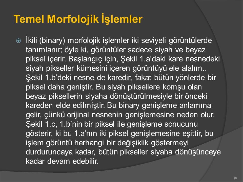 Temel Morfolojik İşlemler