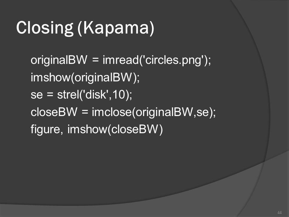 Closing (Kapama)