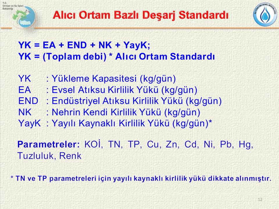 Alıcı Ortam Bazlı Deşarj Standardı