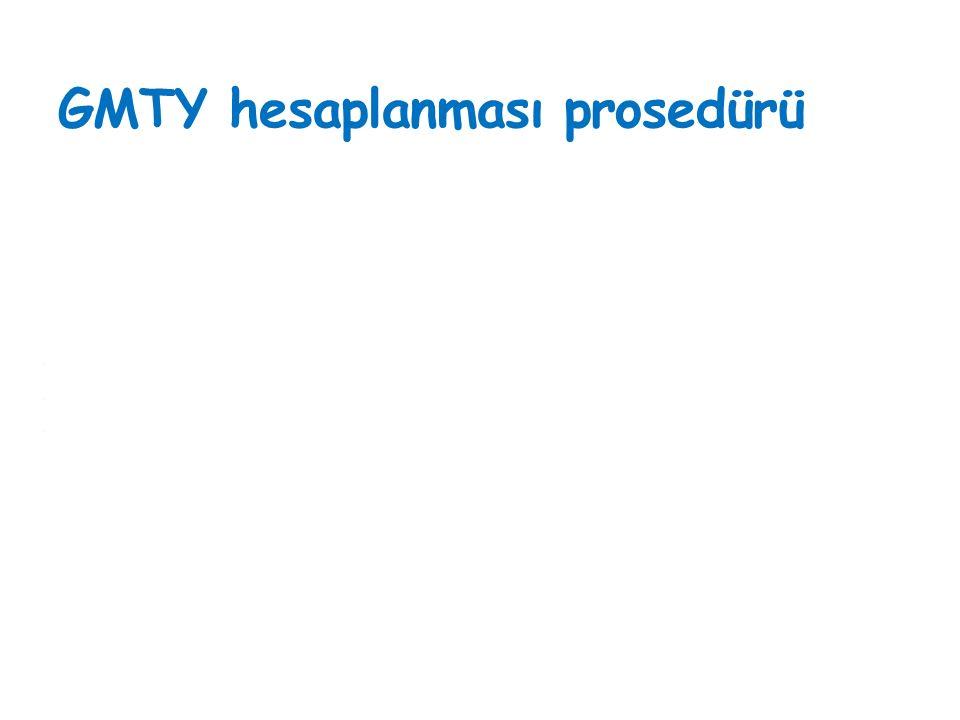GMTY hesaplanması prosedürü