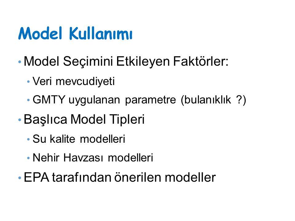 Model Kullanımı Model Seçimini Etkileyen Faktörler: