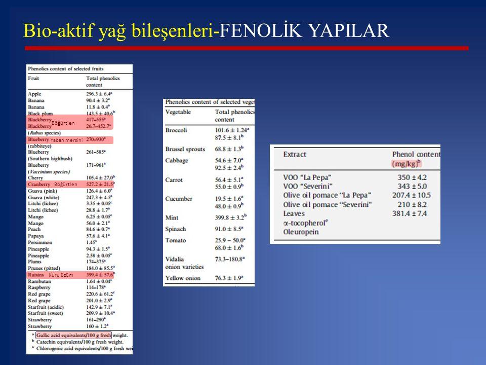 Bio-aktif yağ bileşenleri-FENOLİK YAPILAR
