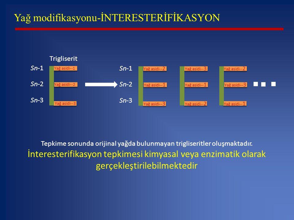 Yağ modifikasyonu-İNTERESTERİFİKASYON