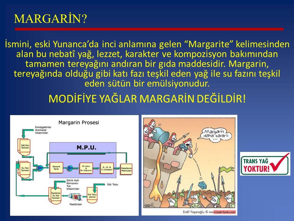 MODİFİYE YAĞLAR MARGARİN DEĞİLDİR!