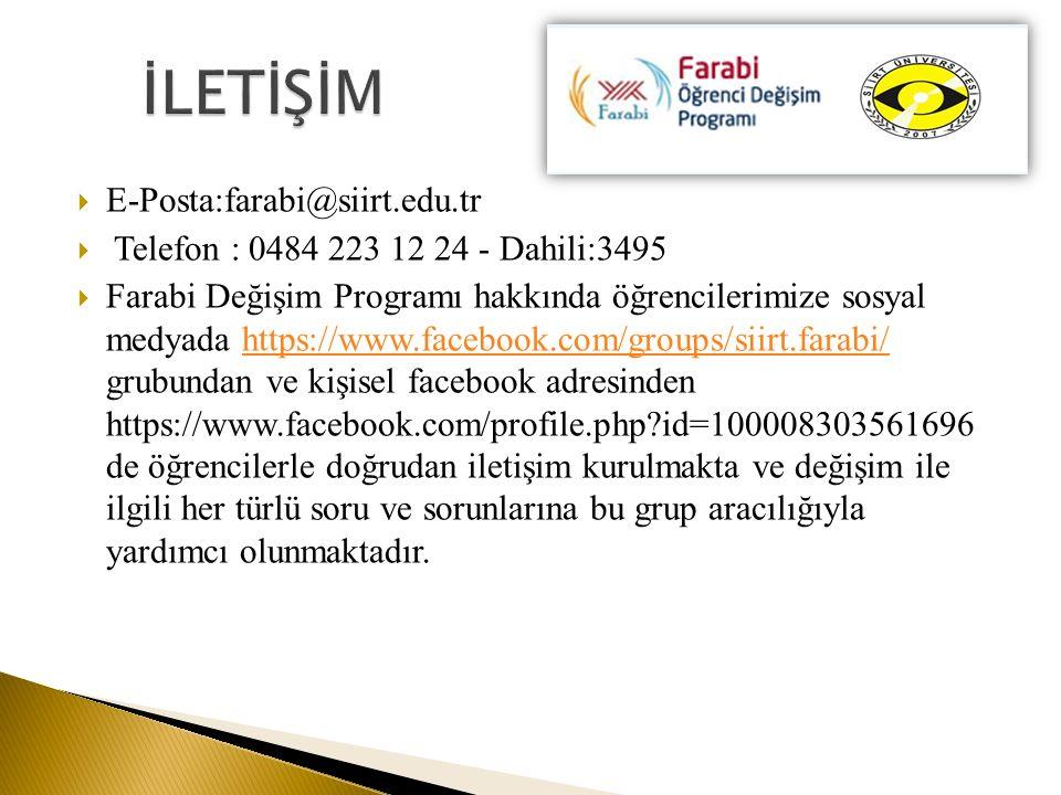 İLETİŞİM E-Posta:farabi@siirt.edu.tr