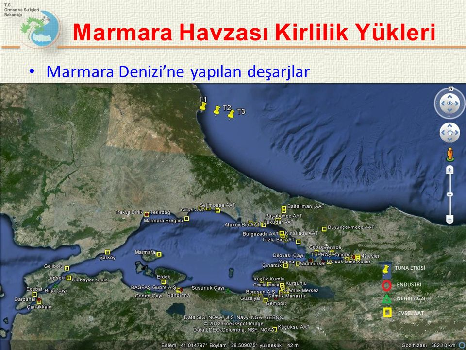 Marmara Havzası Kirlilik Yükleri