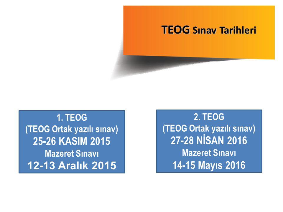 (TEOG Ortak yazılı sınav) (TEOG Ortak yazılı sınav)