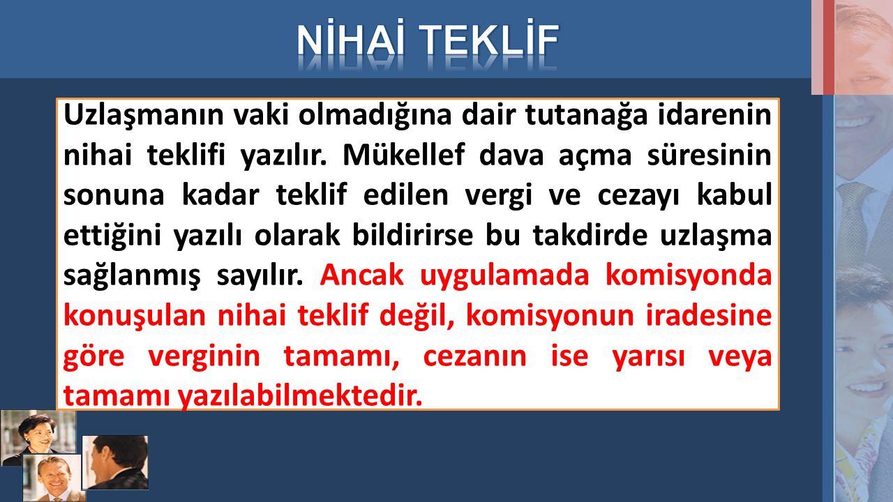 NİHAİ TEKLİF