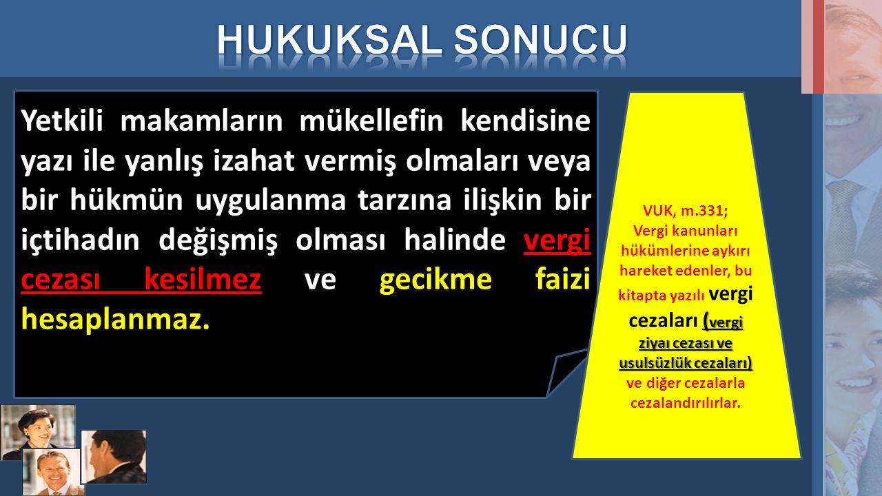 HUKUKSAL SONUCU