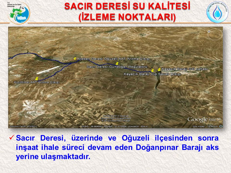SACIR DERESİ SU KALİTESİ
