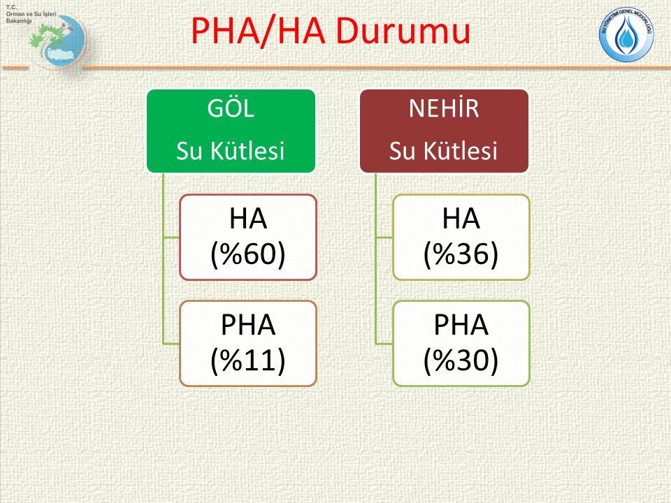 PHA/HA Durumu HA (%60) PHA (%11) HA (%36) PHA (%30) GÖL Su Kütlesi